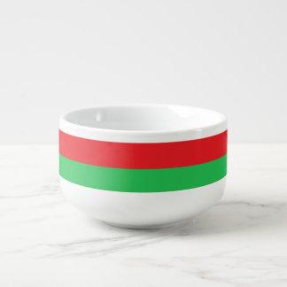 Red, White & Green Soup/Salad Bowl