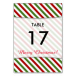 "[ Thumbnail: Red, White & Green Stripes + ""Merry Christmas!"" Table Number ]"
