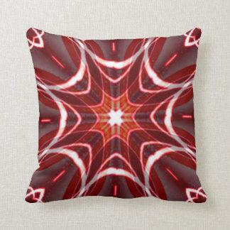 Red White Grey Geometric American MoJo Pillows