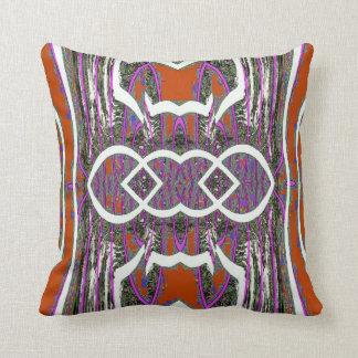 Red White Grey Purple Geometric American MoJo Pill Pillow