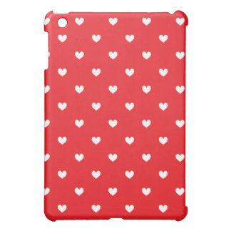 Red & White Hearts Patterned iPad Mini Case