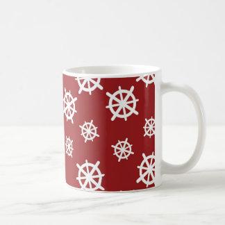 Red White Helm Print Mugs