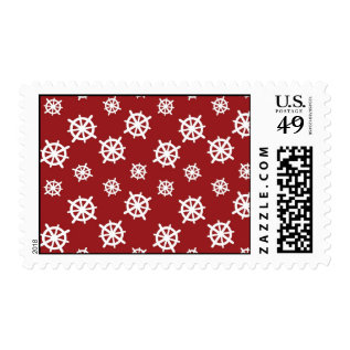 Red White Helm Print Postage at Zazzle
