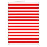 Red & White Horizontal Stripes Greeting Card