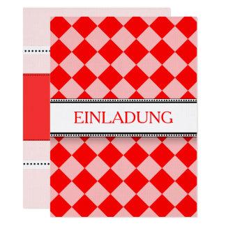 Red white invitations