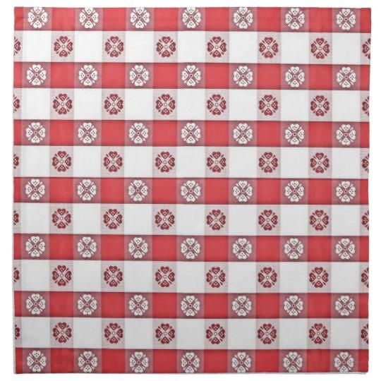 Superb Red White Italian Tablecloth Print Napkin