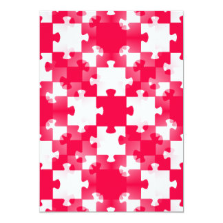 RED white jigsaw puzzle backgrounds wallpapers tem Card