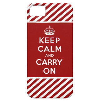 Red White Keep Calm and Carry On iPhone 5 Case