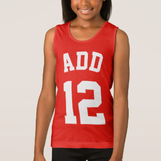 Red & White Kids | Sports Jersey Design Tank Top