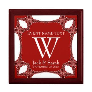 Red+White Lace Wedding Anniversary Gift Box