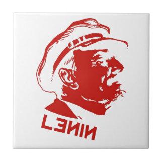 Red & White Lenin Communist Artwork Tile