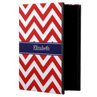 Red White LG Chevron Navy Blue Name Monogram Powis iPad Air 2 Case