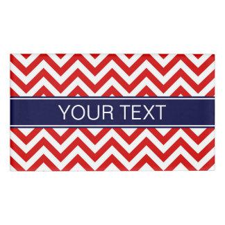 Red White LG Chevron Navy Blue Name Monogram Name Tag