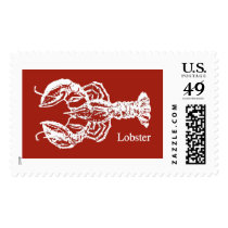 Red & White Lobster Stamps