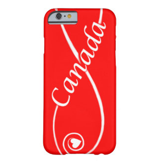 red white love Canada heart scroll phone covers Barely There iPhone 6 Case