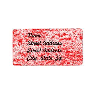 Red & White Marble Address Sticker Label