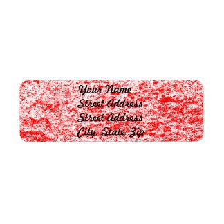 Red & White Marble Return Address Sticker Label