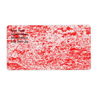 Red & White Marble Shipping Label
