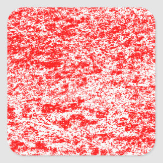 Red & White Marble Square Sticker