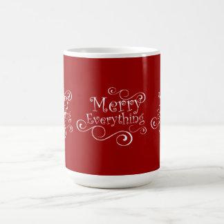 Red White Merry Everything Holiday Mug