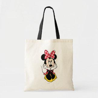 Red & White Minnie 1 Budget Tote Bag