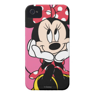 Red White Minnie 1 iPhone 4 Cases
