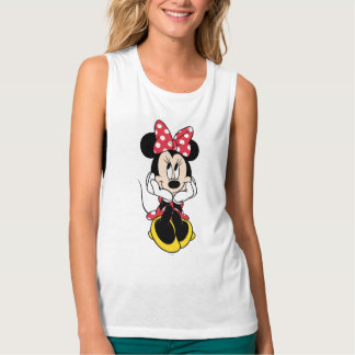 Red & White Minnie 1 Flowy Muscle Tank Top
