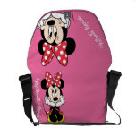 Red & White Minnie 1 Messenger Bags
