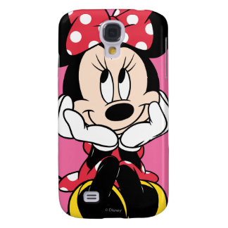 Red & White Minnie 1 Samsung Galaxy S4 Cover