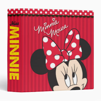 Red & White Minnie 1 Vinyl Binder
