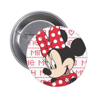 Red & White Minnie 3 2 Inch Round Button