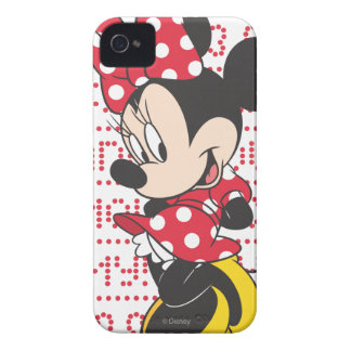 Red White Minnie 3 iPhone 4 Case-Mate Cases