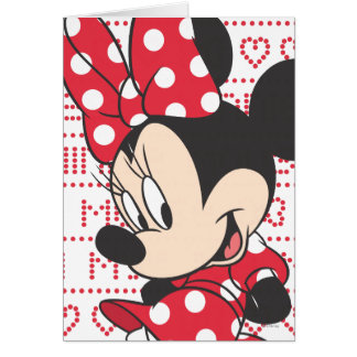 Red & White Minnie 3 Greeting Card
