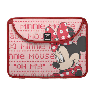Red & White Minnie 3 Sleeves For MacBook Pro