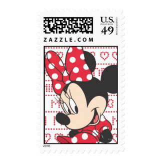 Red & White Minnie 3 Postage Stamps