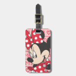 Red & White Minnie 3 Travel Bag Tag