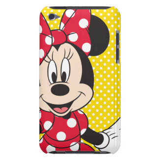 Red & White Minnie | Cute Closeup Barely There iPod Cover