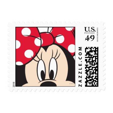 Red & White Minnie | Cute Closeup Postage Stamp