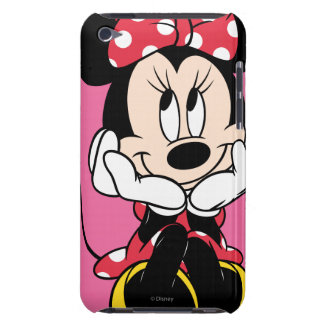 Red & White Minnie | Head in Hands Barely There iPod Cases