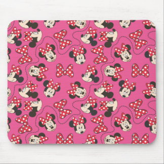 Red & White Minnie | Pink Pattern Mouse Pad