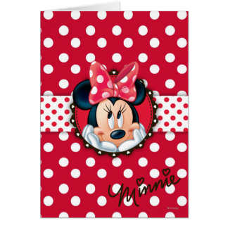 Red & White Minnie | Polka Dot Frame Card