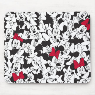 Red & White Minnie | Red Bow Pattern Mouse Pad