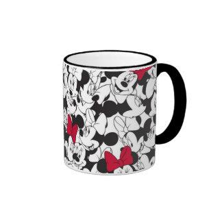 Red & White Minnie   Red Bow Pattern Ringer Mug