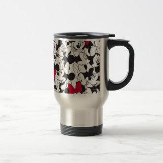 Red & White Minnie   Red Bow Pattern Travel Mug