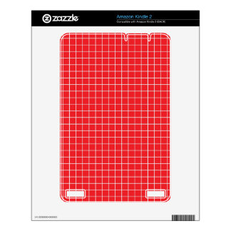 Red White Monogram Pattern Skin For The Kindle 2