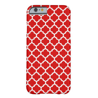 Red White Moroccan Quatrefoil Pattern #5 Barely There iPhone 6 Case