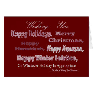 Red White Multi Holiday Greeting Cards