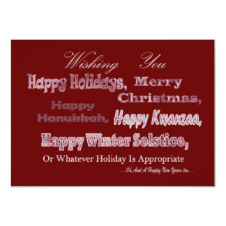 Red White Multi Holiday Card