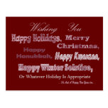 Red White Multi Holiday Post Cards