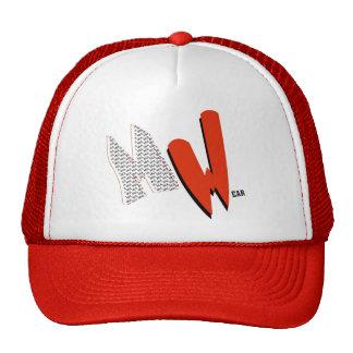 Red & White MulWear MW Cap Trucker Hat